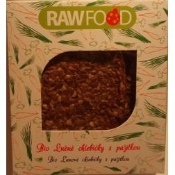 Lněné chlebíčky s pažitkou BIO 100g RAWFOOD