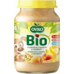 Bio broskvová s banány a cereáliemi 190g
