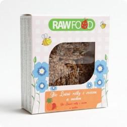 Lněné rolky se sušeným ovocem a medem BIO 100g RAWFOOD VÝPRODEJ 1ks exp.12/2015