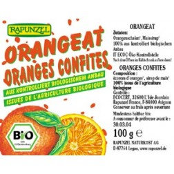 Kandovaná pomerančová kůra 100g Rapunzel