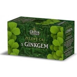 Zelený čaj s ginkgem GREŠÍK - 20x1,5g porcovaný