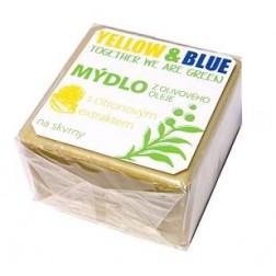 Mýdlo z olivového oleje s citronovým extraktem na skvrny 200g Yellow+Blue