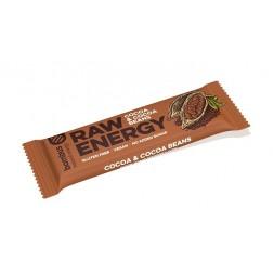 Tyčinka BOMBUS RAW ENERGY Kakao + Kakaové boby 50g