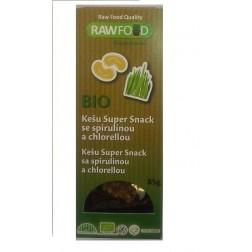 Kešu Super Snack se spirulinou a chlorellou 85g RAWFOOD