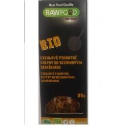 BIO Cibulové pikantní chipsy 85g RAWFOOD