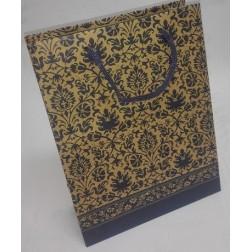 Dárková taška papírová MODRÝ MOTIV š.18,5cm/v.24,5cm/hl.7,5cm