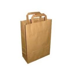 Papírová taška PŘÍRODNÍ STŘEDNÍ š.26cm/v.35cm/hl.15cm