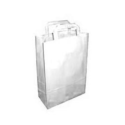Papírová taška BÍLÁ MALÁ š.18cm/v.25cm/hl.8cm