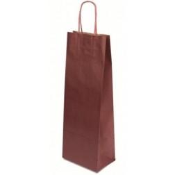 Papírová taška NA VÍNO barva vínová š.14cm/v.40cm/hl.8cm