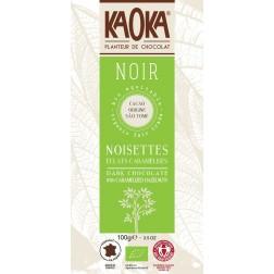 Bio čokoláda hořká s oříšky KAOKA 100 g