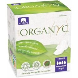 Dámské vložky s křidélky - NOČNÍ 10ks Bio bavlna ORGANYC
