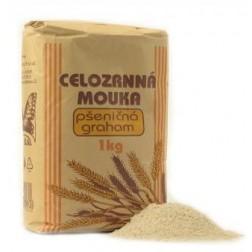 Celozrnná mouka pšeničná GRAHAM 1kg Natural Jihlava