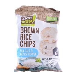 Rýžové chipsy  s mořskou solí a pepřem 60g REJ