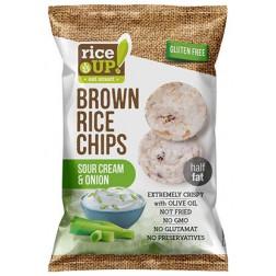 Rýžové chipsy smetanové s cibulkou 60g RICE UP