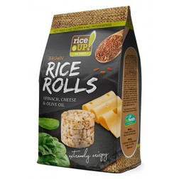 Rýžové minichlebíčky sýrové se špenátem 5Og RICE UP