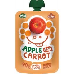Dětská výživa Kapsička Bio jablko+karotka 90g