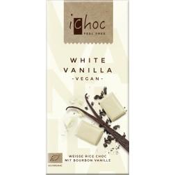 Čokoláda vegan iChoc bílá s vanilkou BIO 80g