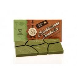 Čokoláda Troubelice BÍLÁ SE SPIRULINOU 40% 45g Čokoládovna Troubelice