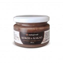 100% kokosové máslo s kakaem 250g Nutspread