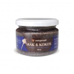 100% kokosovo - makové máslo 250g Nutspread