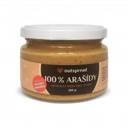 100% arašídové máslo CRUNCHY 250g Nutspread