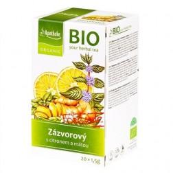 Čaj Zázvorový s citronem a mátou 30g BIO MEDIATE