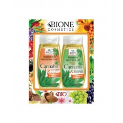 DÁRKOVÁ KAZETA BIO CANNABIS - regenerační výživný šampon + regenerační sprchový gel