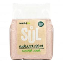 Sůl himalájská růžová jemná 1kg COUNTRY LIFE