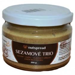 100% Sezamové TRIO (sezam+kešu+vlašský ořech) 250g Nutspread