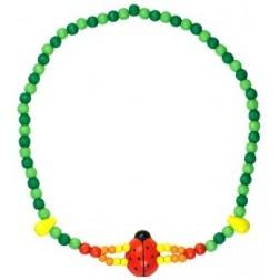 Dětský náhrdelník 2x provlečená beruška DETOA