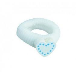 Gumička srdce - bílé tečky DETOA
