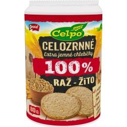 Celpo vícerznný chlebíček 100% žitný 80g