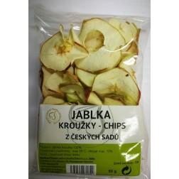 Jablka kroužky chips z českých sadů 50g VIZOVICE