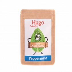 Žvýkačky HUGO bez aspartanu  PEPPERMINT 9g
