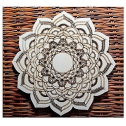 Mandala dřevěná 1ks