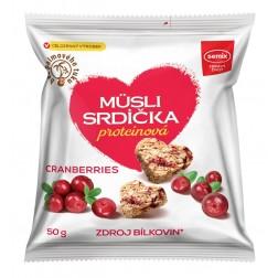 Proteinová srdíčka s brusinkami 50 g