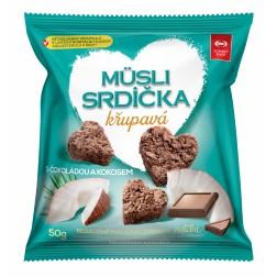 Müsli srdíčka s čokoládou a kokosem 50g Semix
