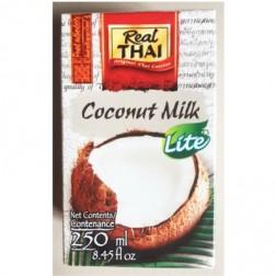 Kokosové mléko LIGHT 250ml Real THAI *VÝPRODEJ 10KS exp.3.1.2019