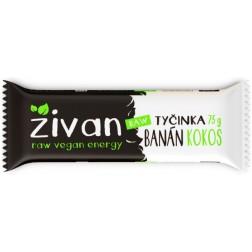 Tyčinka ŽIVAN banán + kokos RAW 75g