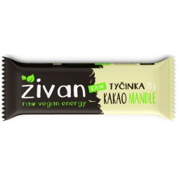 Tyčinka ŽIVAN kakao + mandle RAW 75g