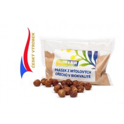 Prášek z mýdlových ořechů v biokvalitě 500g(PE sáček) Yellow+Blue