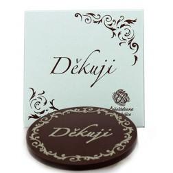 DĚKUJI Čokoláda mléčná s reliéfem 51% 18g Troubelice