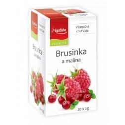 Čaj Apotheke Brusinka a malina 20x2g