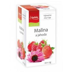 Čaj Apotheke Malina jahoda s echinaceou 20x2g