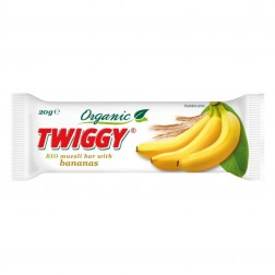 Tyčinka TWIGGY müsli banán 20 g BIO
