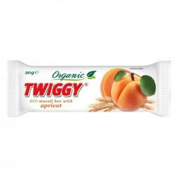 Tyčinka Twiggy müsli BIO meruňková 20g