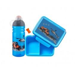 ZDRAVÁ LAHEV® SET Jeep 0.7l+box + krytka na láhev +náhradní zátka