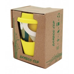 Bamboo cup ekologický hrníček žlutý 280ml