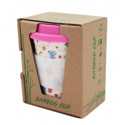 Bamboo cup ekologický hrníček růžový 280ml