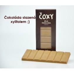 ČOXY čokoláda bílá s kávou a xylitolem 50g Natural